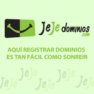 JeJe dominios - Registro de dominios en línea